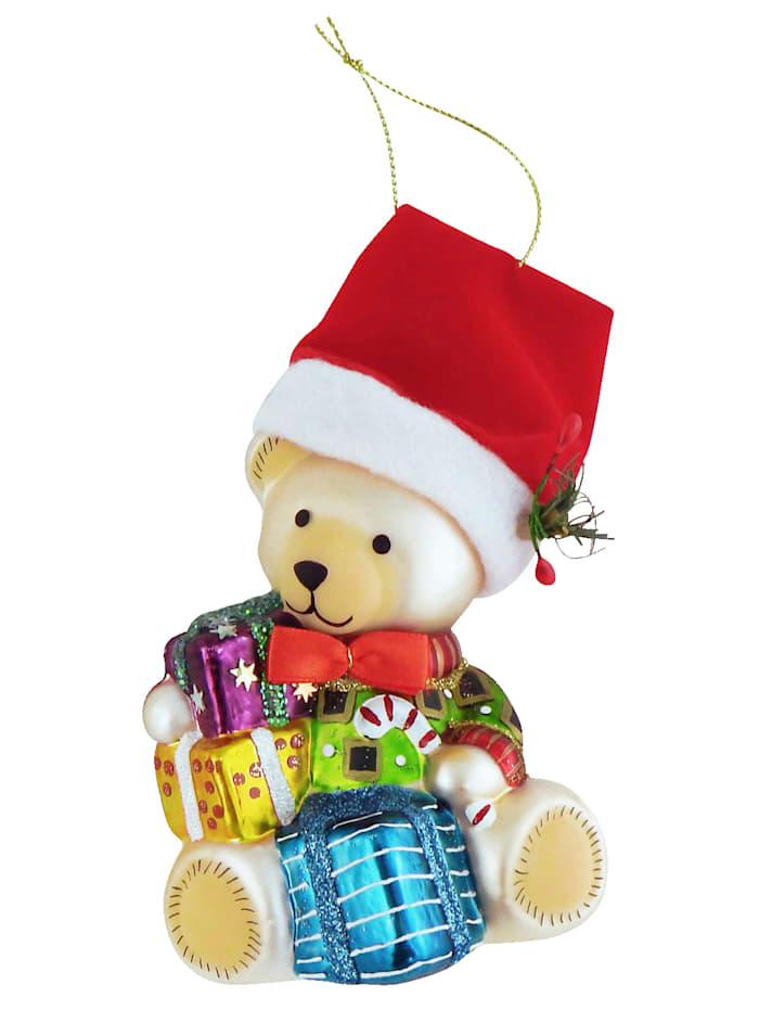 Weihnachtshänger 'Teddybär mit Geschenk'