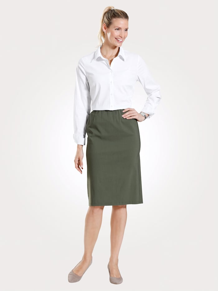 Adelina Skirt in classic slip-on style, Olive