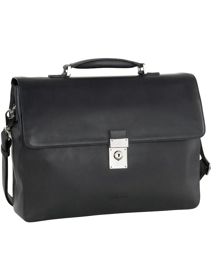 Leonhard Heyden Ottawa Aktentasche RFID Leder 40 cm Laptopfach, schwarz