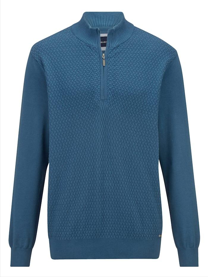 BABISTA Pullover mit aufwändigem Strukturstrick im Vorderteil, Blau
