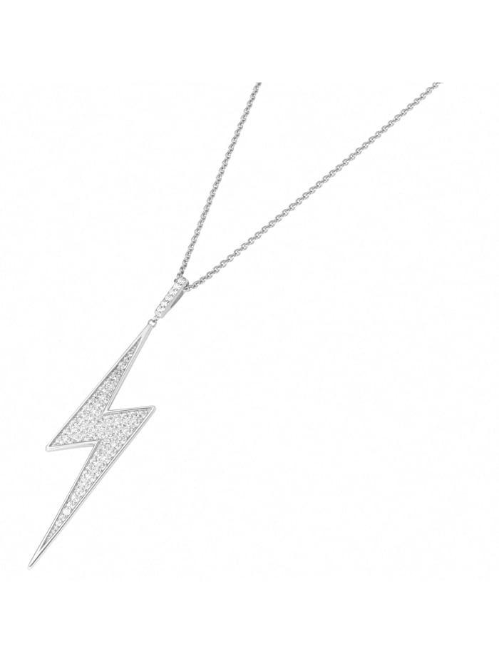 Giorgio Martello Kette Blitz, mit weißen Zirkonia, Silber 925, Weiss