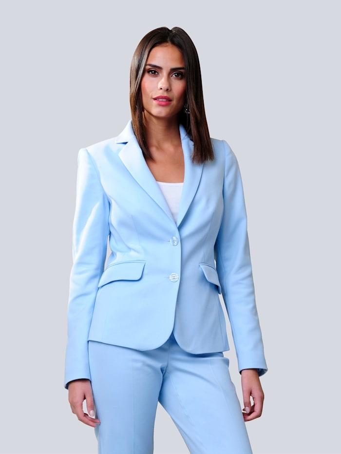 Alba Moda Blazer in sommerlich frischer Farbstellung, Hellblau