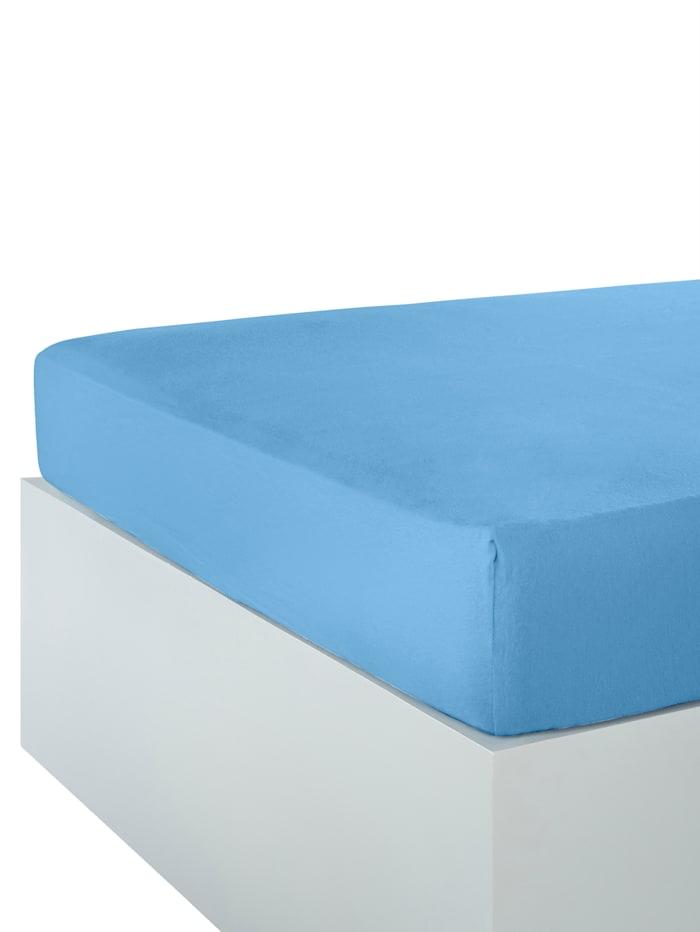 Webschatz Fein Jersey Spannbettlaken, Blau