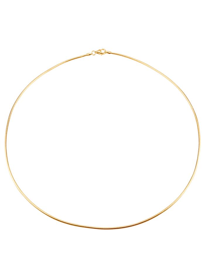 Chaîne maille serpent en argent 925 plaqué or