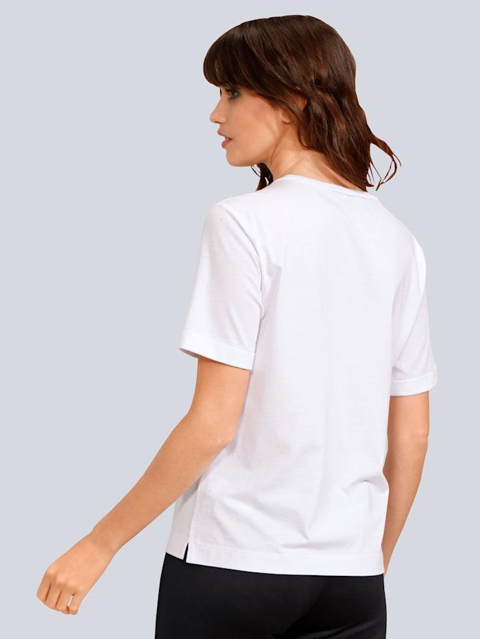 Shirt mit Schriftzug aus Strasssteinen