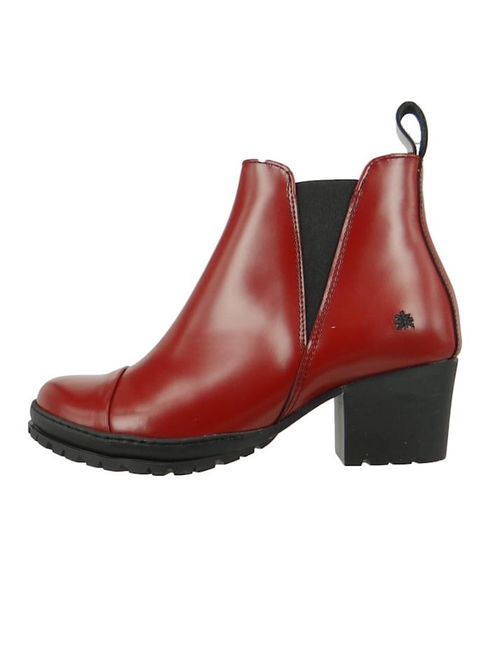 Damen Leder Stiefelette Ankle Boot Camden Burdeos Braun 1233