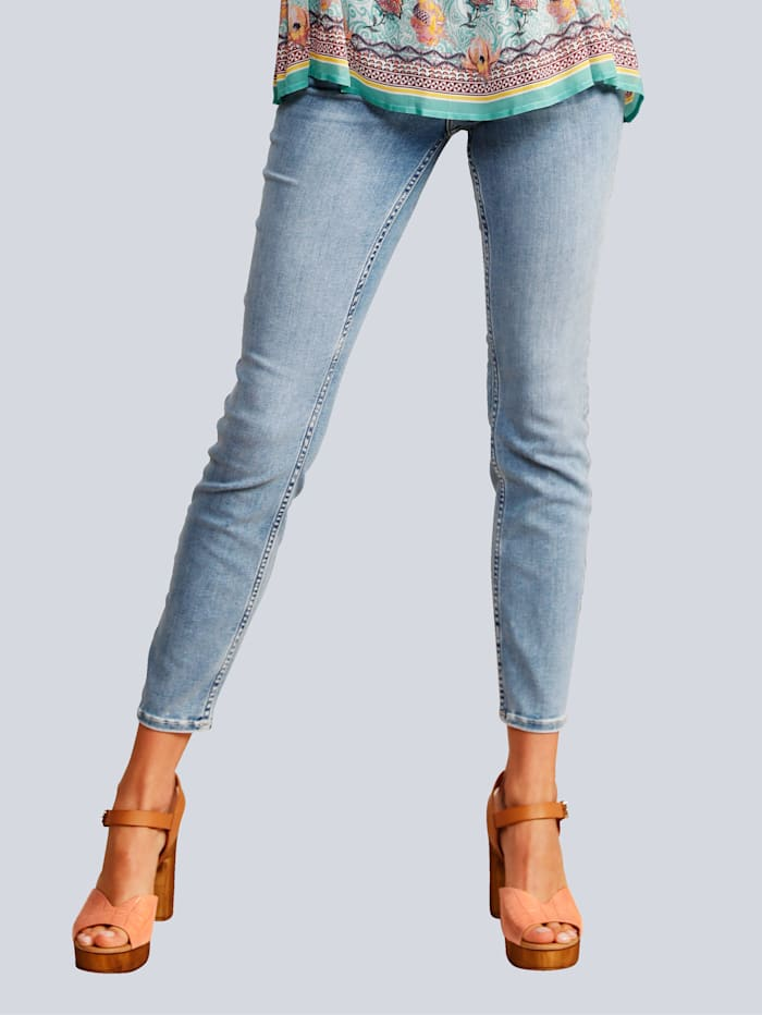 Rosner Jeans in heller Waschung, Hellblau