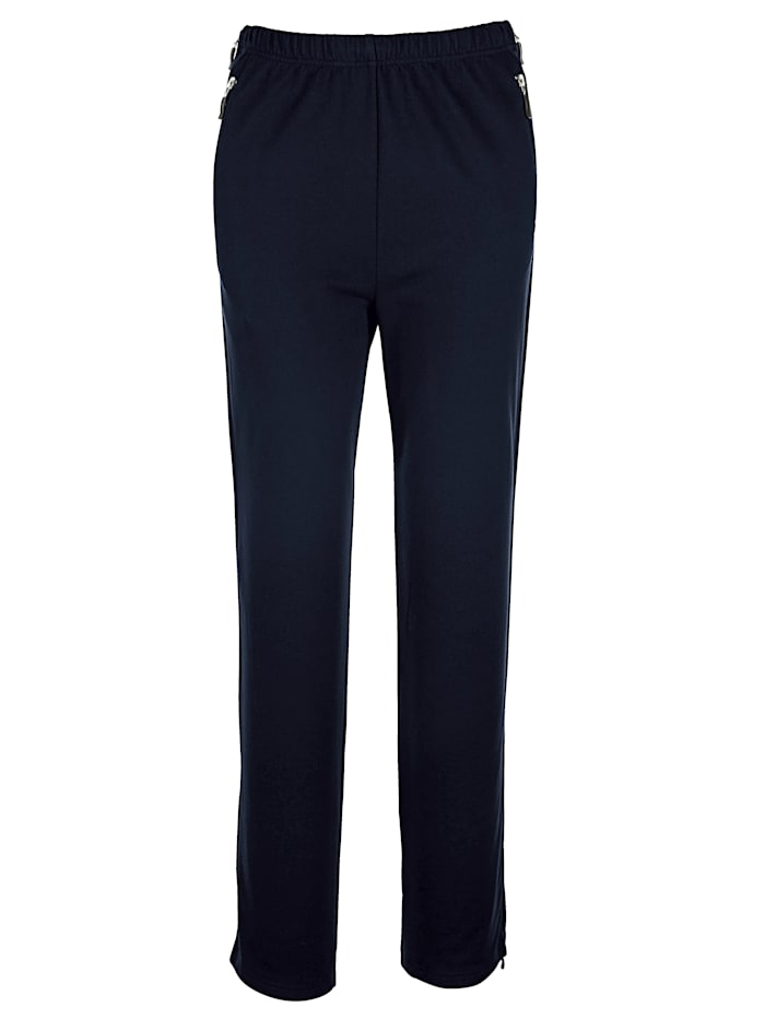 Harmony Joggers, with zip detailing on the side, Navy