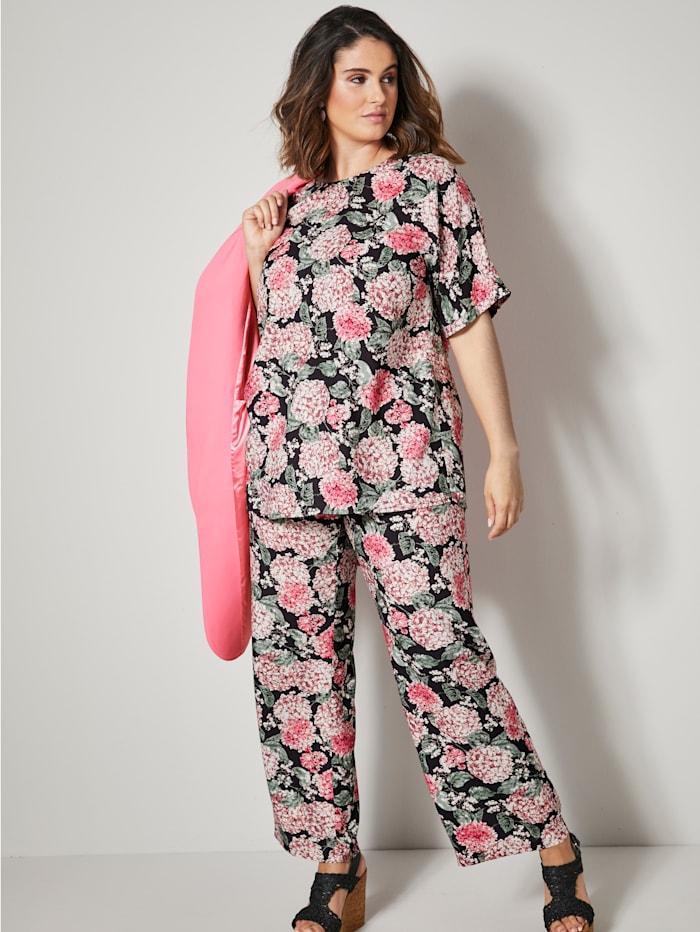 Blusenshirt allover floral bedruckt