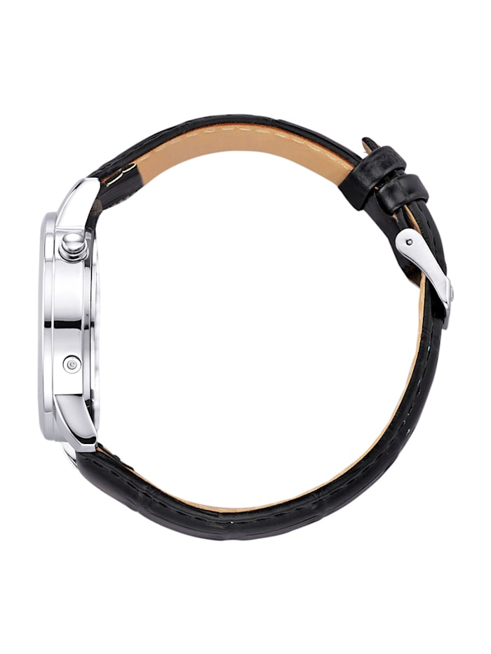 Radiografisch herenhorloge met zwarte leren band