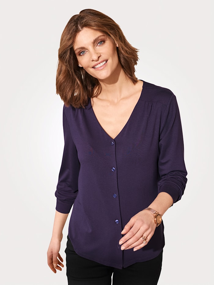 MONA Blouse made from soft jersey, Purple