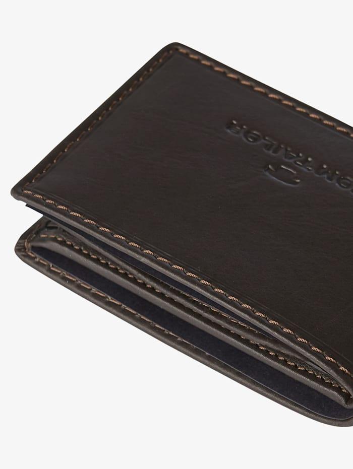 Tom Tailor Portemonnaie aus Leder, braun / brown