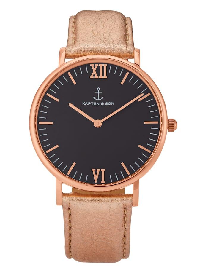KAPTEN & SON Armbanduhr, Rosé