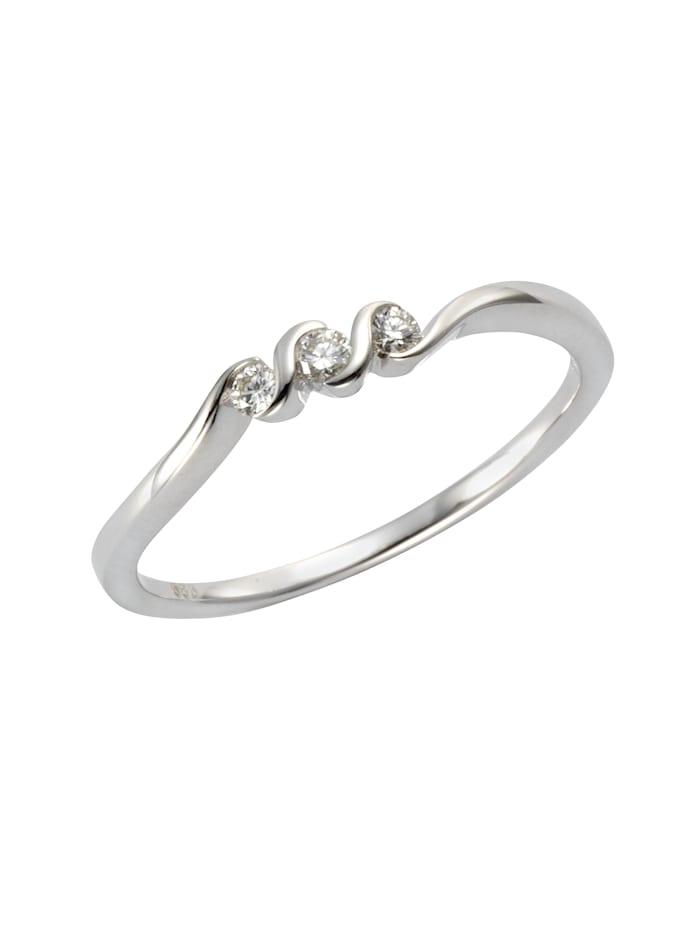 Ring 585/- Gold Brillant weiß Brillant Glänzend 0.10Karat 585/- Gold
