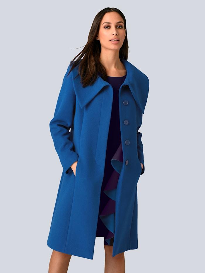 Alba Moda Mantel mit modischer Kragenlösung, Royalblau