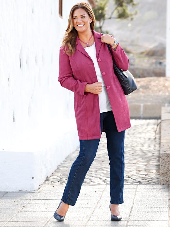 m. collection Robe manteau van comfortabel veloursmateriaal, Pink