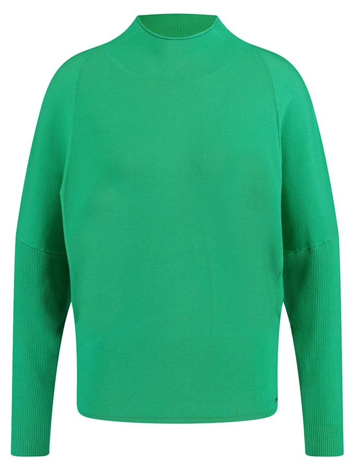 Taifun Pullover mit Rippstrick-Details, Vibrant Green