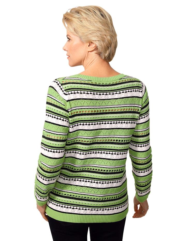 Pullover mit Ajour-Strick