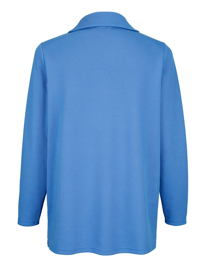 Sweatshirt mit silberfarbenen Druckknöpfen am Rundhalsausschnitt