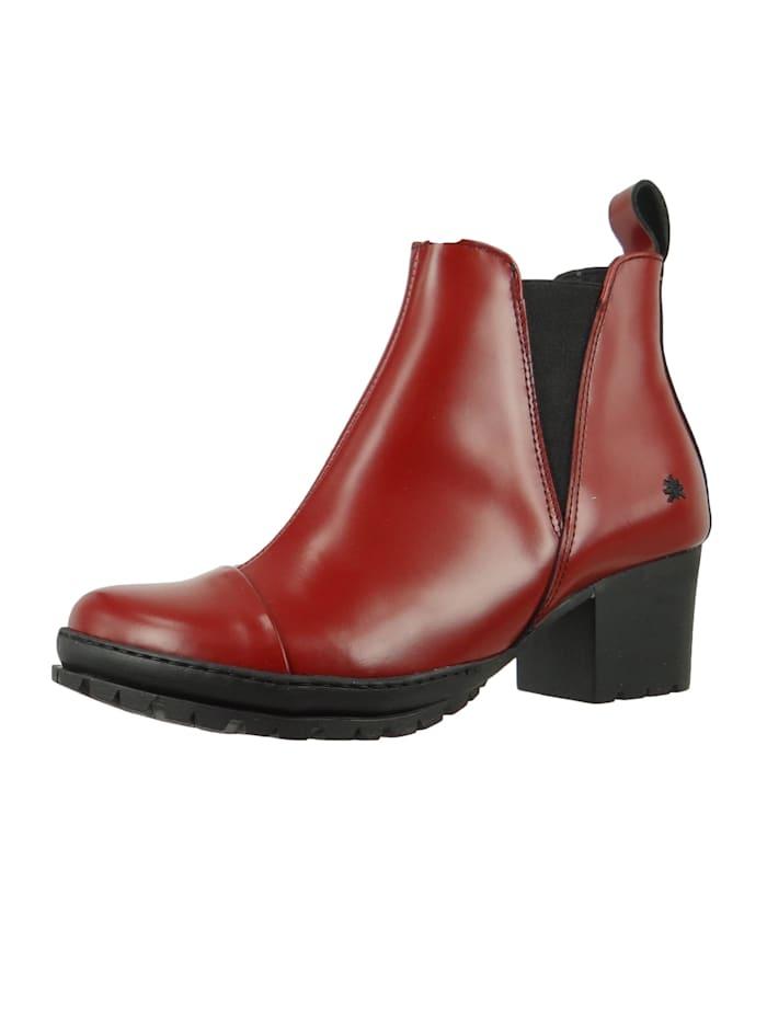 *art Damen Leder Stiefelette Ankle Boot Camden Burdeos Braun 1233, Burdeos