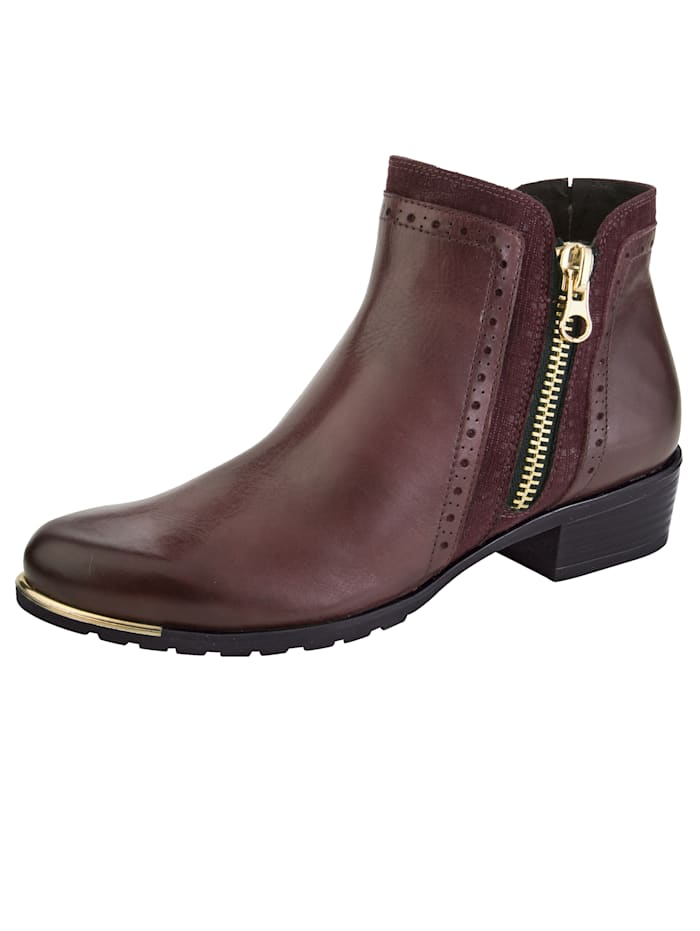 Caprice Ankle boots with an exchangeable onAir insole, Bordeaux