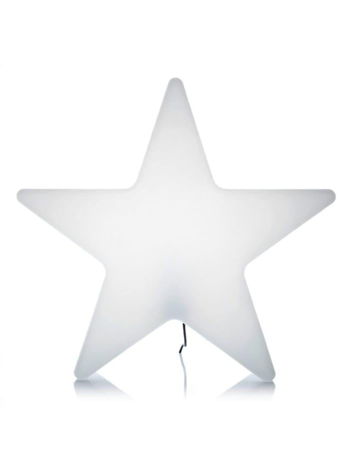8 Seasons Außenleuchte Star, weiß