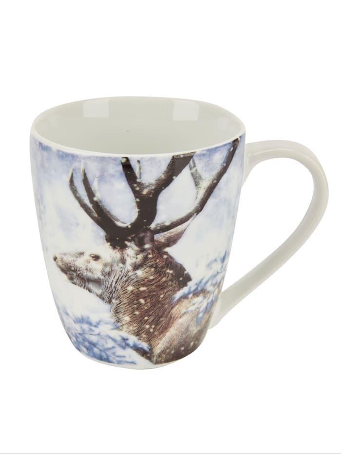 4tlg. Kaffeebecher-Set 'Wintertiere'