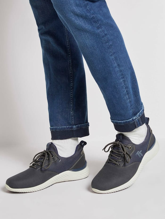 Tom Tailor Sneaker mit Logostickerei, navy
