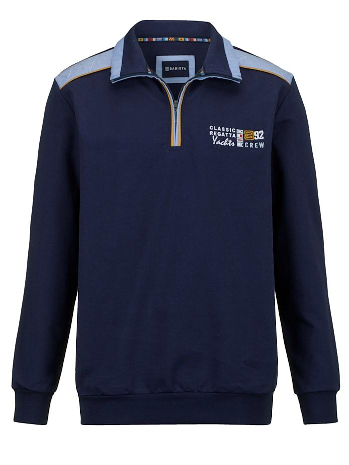 BABISTA Sweatshirt met hoogwaardige afwerking, Marine