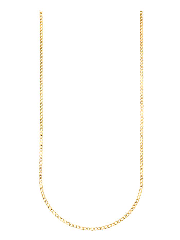 Collier maille gourmette en or jaune