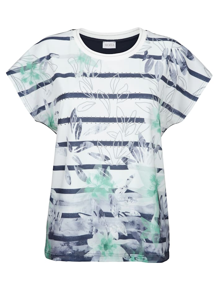 T-shirt à motifs mélangés