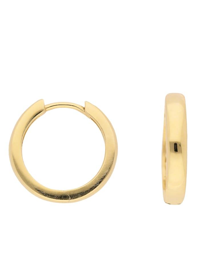 1001 Diamonds 1001 Diamonds Damen Goldschmuck 585 Gold Ohrringe / Creolen Ø 17 mm, gold