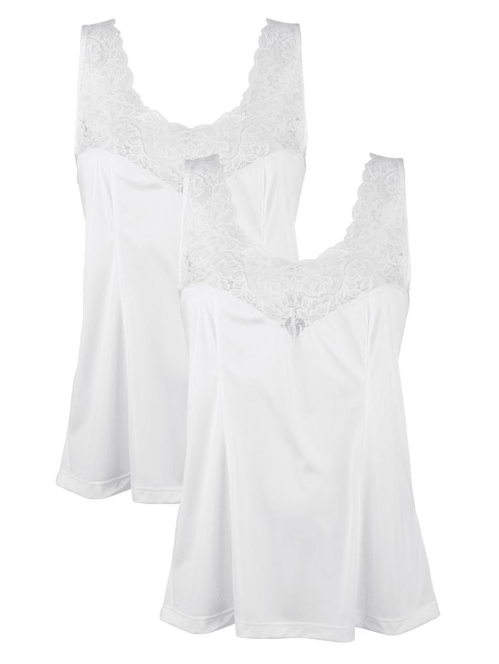 Südtrikot Unterkleider im 2er-Pack in kurzer Form mit antistatischer Ausrüstung, Weiß