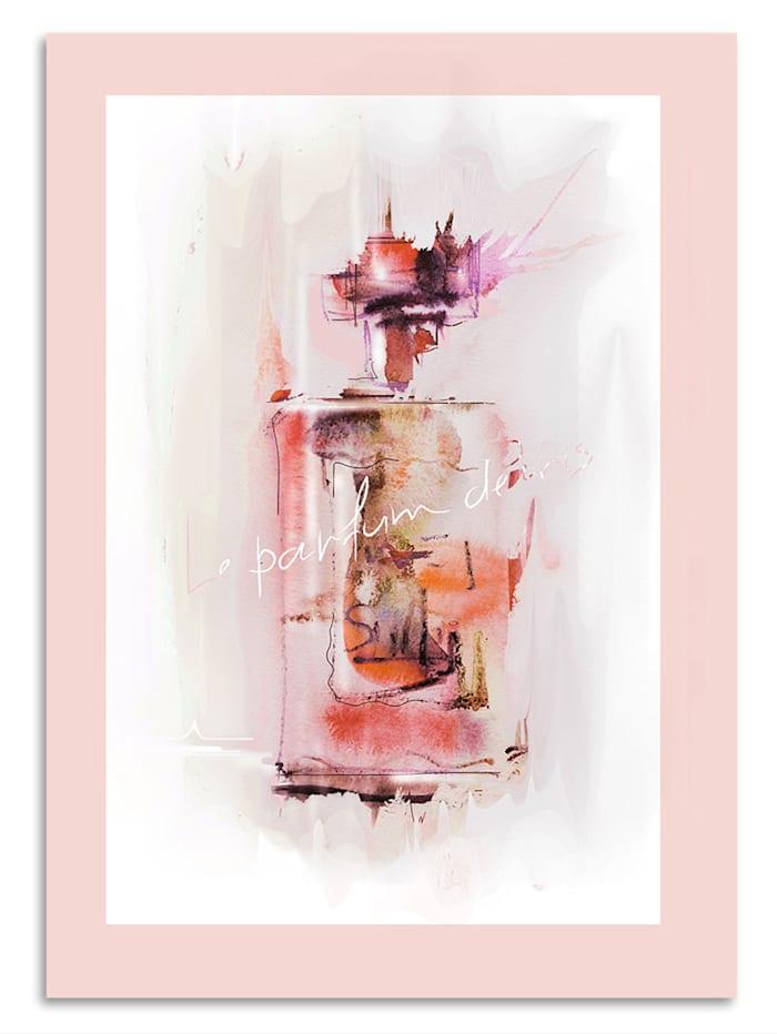 IMPRESSIONEN living Leinwandbild, Parfum, Rosé