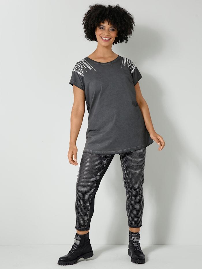 Jeans met glinsterende klinknageltjes voor