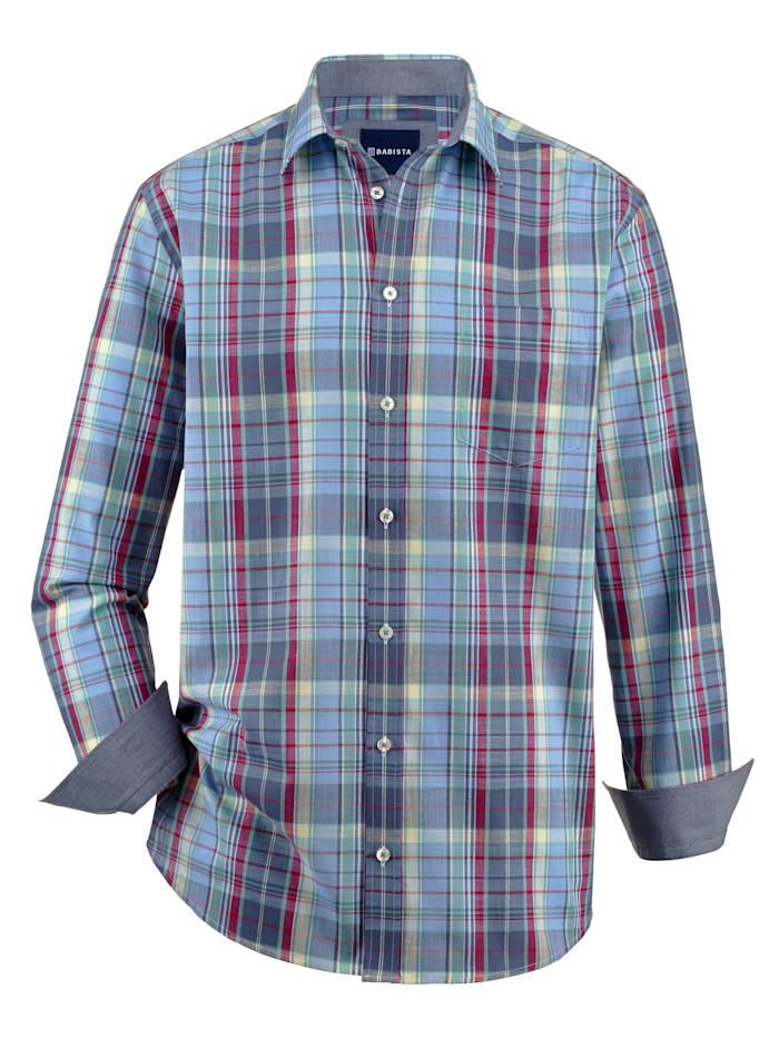 BABISTA Skjorte i sommerlig materiale, Blå/Mint