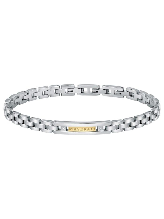 Maserati Herrenarmband Edelstahl, Silberfarben
