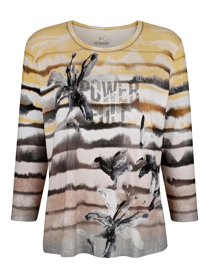T-shirt avec strass fantaisie