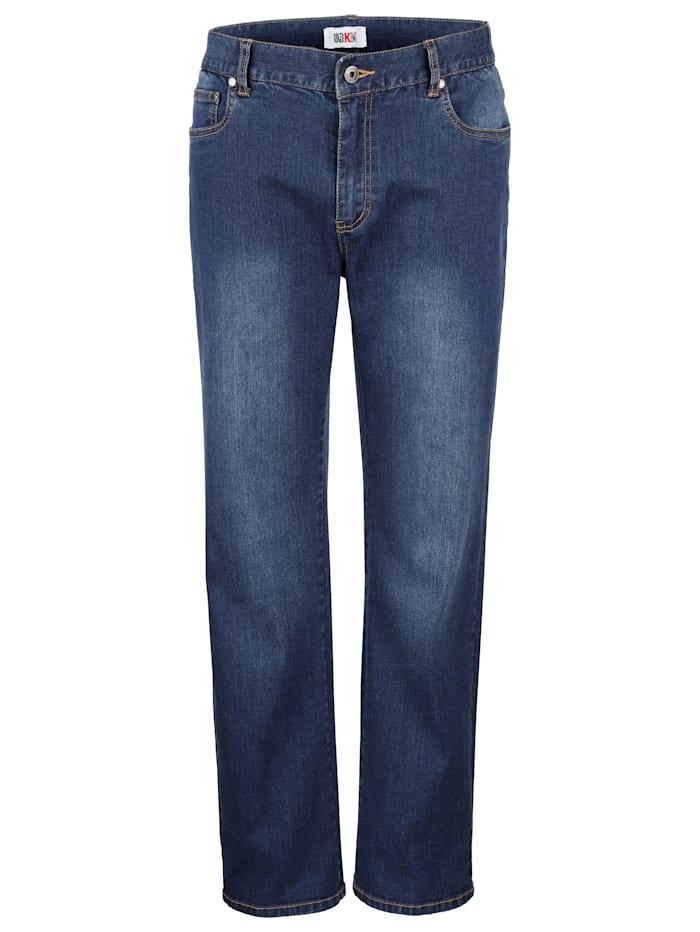 Roger Kent Jean 5 poches matière stretch, Dark blue