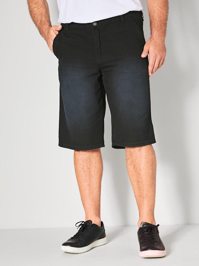Men Plus Bermuda in swingpocketmodel, Zwart