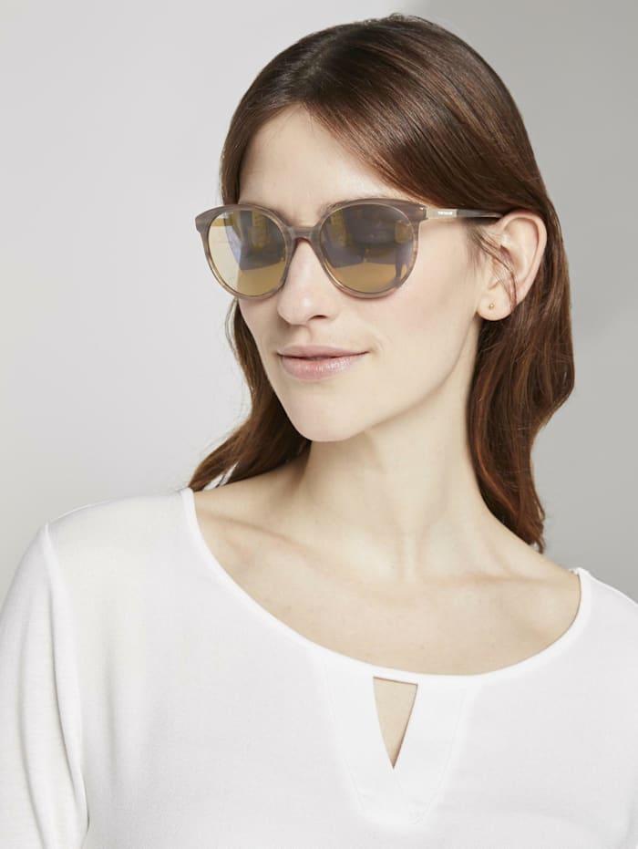 Tom Tailor Abgerundete Sonnenbrille, light brown structure