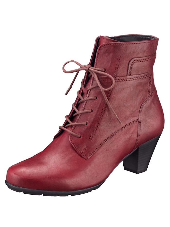 Gabor Bottines lacées style tendance, Rouge