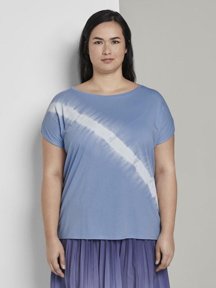 MY TRUE ME by Tom Tailor T-Shirt im Batik-Look, Parisienne Blue