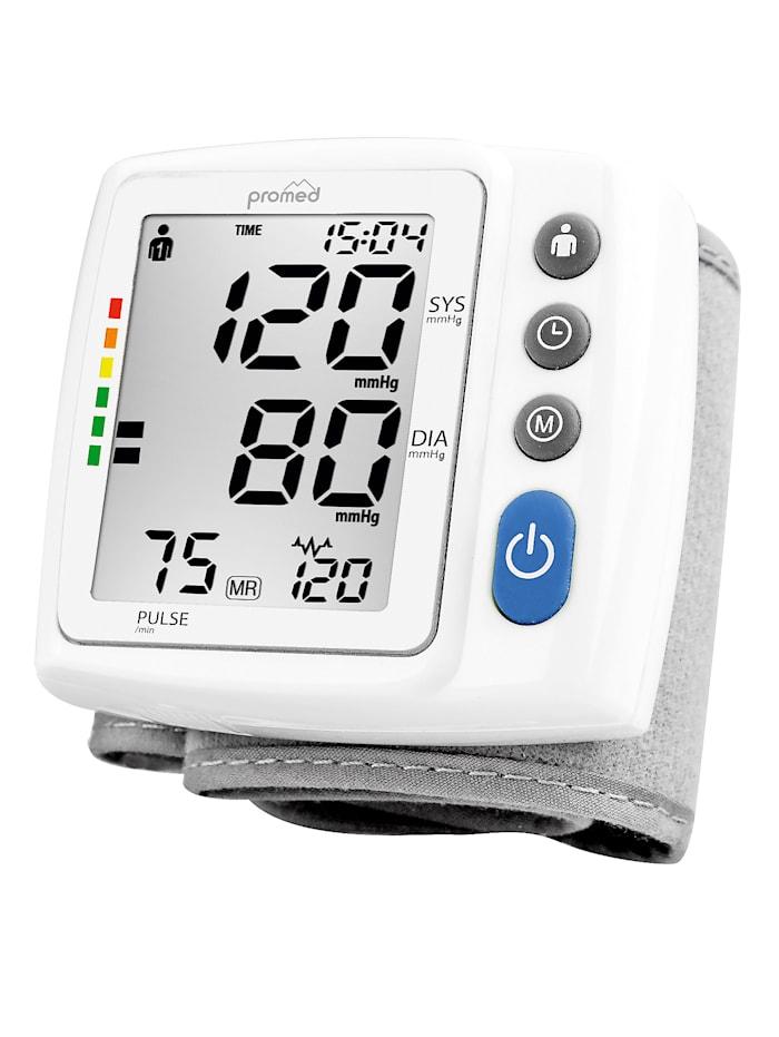 Promed Blodtrycksmätare för handled med febertermometer, Vit