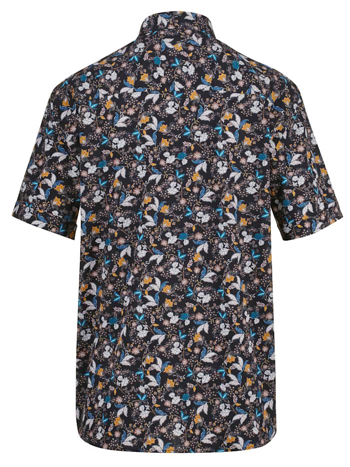Skjorta med blommigt mönster