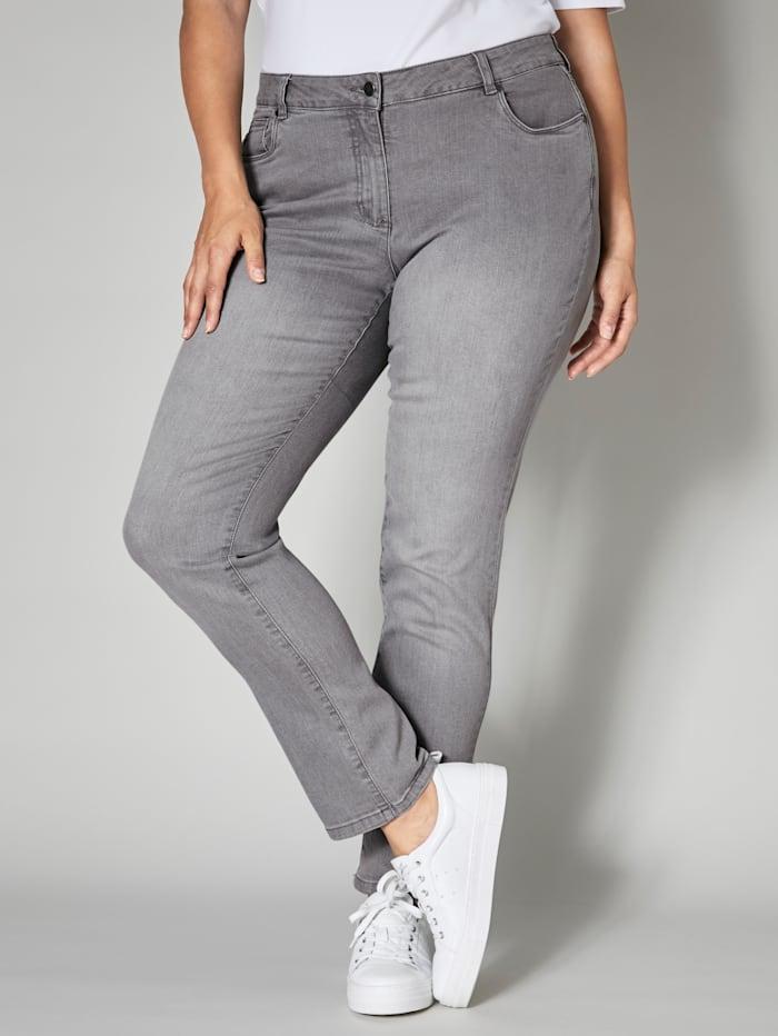 Janet & Joyce Slim Fit Jeans, Grau