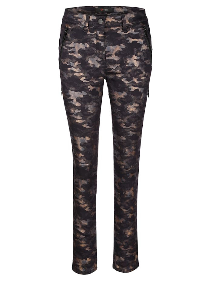 Trousers with fashionable camouflage print