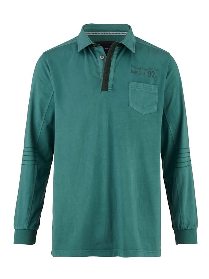 BABISTA Poloshirt met siernaden, Petrol