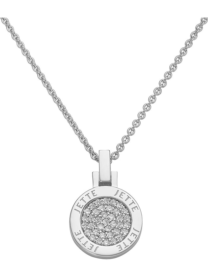 Jette JETTE Damen-Kette 925er Silber rhodiniert 37 Zirkonia, silber