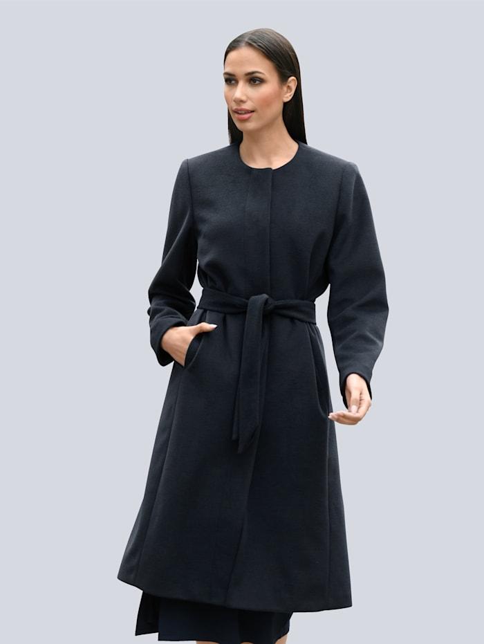 Alba Moda Mantel auf zwei Knöpfe zu Schliessen, Marineblau